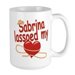 Sabrina Lassoed My Heart Large Mug