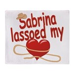 Sabrina Lassoed My Heart Throw Blanket