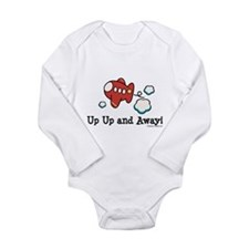 Cute Infant plane Long Sleeve Infant Bodysuit
