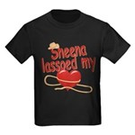 Sheena Lassoed My Heart Kids Dark T-Shirt