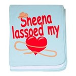 Sheena Lassoed My Heart baby blanket