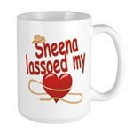 Sheena Lassoed My Heart Large Mug