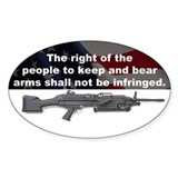2nd Amendment - M249 SAW - 5x3 Oval Bumper Stickers
