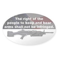 2nd Amendment - M249 SAW - 5x3 Oval Decal