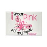 I Wear Pink 45 Breast Cancer Rectangle Magnet (100