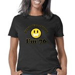 District 7 Tribute Organic Women's Fitted Dark T-S