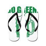 Go Green St. Patricks Day Flip Flops