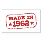 Made In 1962 Sticker (Rectangle)