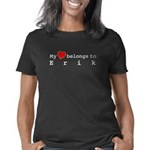 Shelby Lassoed My Heart Organic Kids T-Shirt (dark