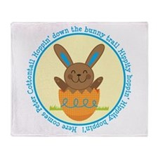 Peter Cottontail Boy Easter Throw Blanket