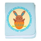 Peter Cottontail Boy Easter baby blanket