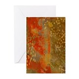 Floating GInkgos in Rust Greeting Cards (Pk of 10)