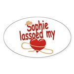 Sophie Lassoed My Heart Sticker (Oval)
