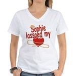 Sophie Lassoed My Heart Women's V-Neck T-Shirt