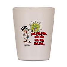 Mandark Ha Ha Ha Ha! Shot Glass