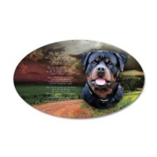 """Why God Made Dogs"" Rottweiler 22x14 Oval Wall Pee"