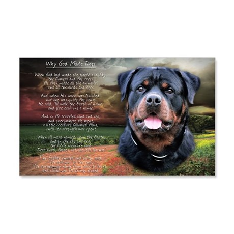 """Why God Made Dogs"" Rottweiler 22x14 Wall Peel"