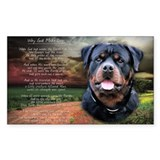 """Why God Made Dogs"" Rottweiler Decal"