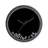 Numbers Fell Black Wall Clock