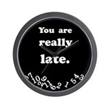 Really Late Black Wall Clock