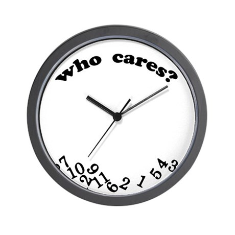 Who Cares White Wall Clock