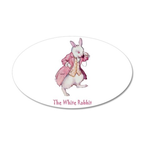 The White Rabbit 22x14 Oval Wall Peel