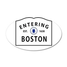 Boston 38.5 x 24.5 Oval Wall Peel