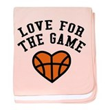 Love for the game baby blanket