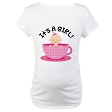 It's A Girl Teacup Baby Shirt