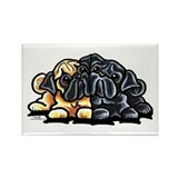 Love Pugs Rectangle Magnet (100 pack)