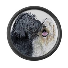 Labradoodle Love Large Wall Clock