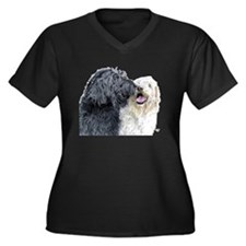 Labradoodle Love Women's Plus Size V-Neck Dark T-S