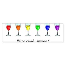 Wine Crawl Bumper Sticker