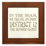 In the Seam Hunger Games Gear Framed Tile