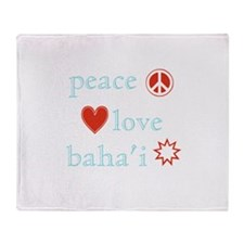 Peace, Love and Baha'i Throw Blanket