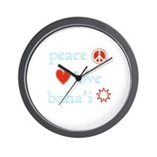 Peace, Love and Baha'i Wall Clock