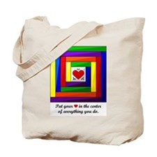 Quilt Square Tote Bag