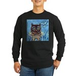owls Long Sleeve Dark T-Shirt