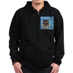 owls Zip Hoodie (dark)