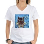 owls Women's V-Neck T-Shirt