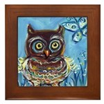 owls Framed Tile