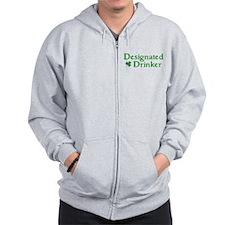Designated Drinker Irish Zip Hoodie