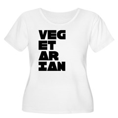 Pro Vegetarian Women's Plus Size Scoop Neck T-Shir
