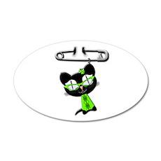 Irish Kitty Charm 38.5 x 24.5 Oval Wall Peel