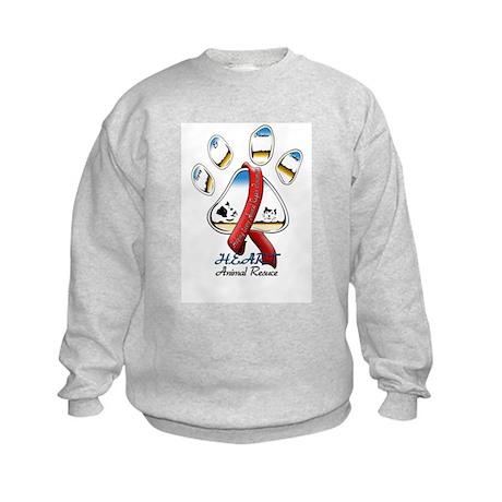 H.E.A.R.T. ANIMAL RESCUE Kids Sweatshirt