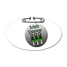 Irish Dancer 22x14 Oval Wall Peel