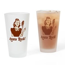 Retro Aunts Rock Drinking Glass
