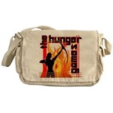 Katniss on Fire Hunger Games Gear Messenger Bag