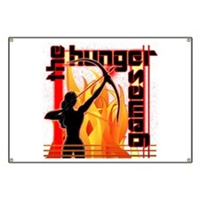 Katniss on Fire Hunger Games Gear Banner