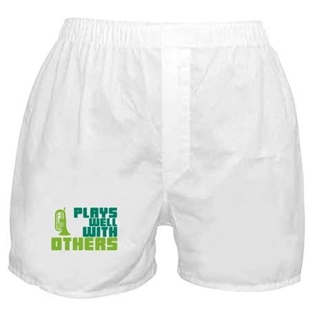 Marching Baritone Plays Well Boxer Shorts